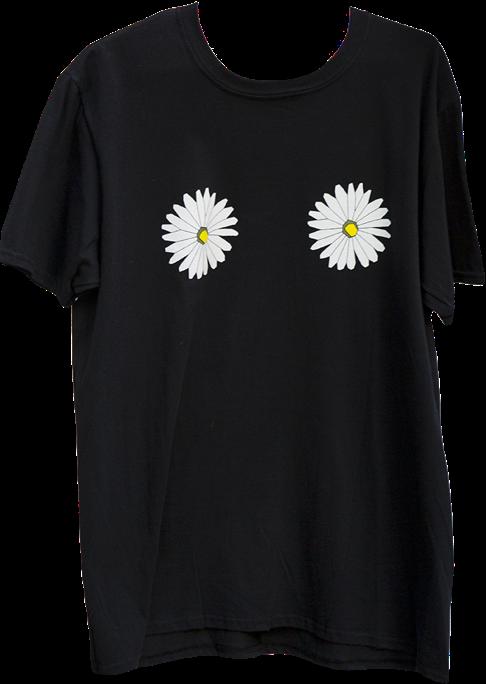september x studiomateriality daisy T-shirt black